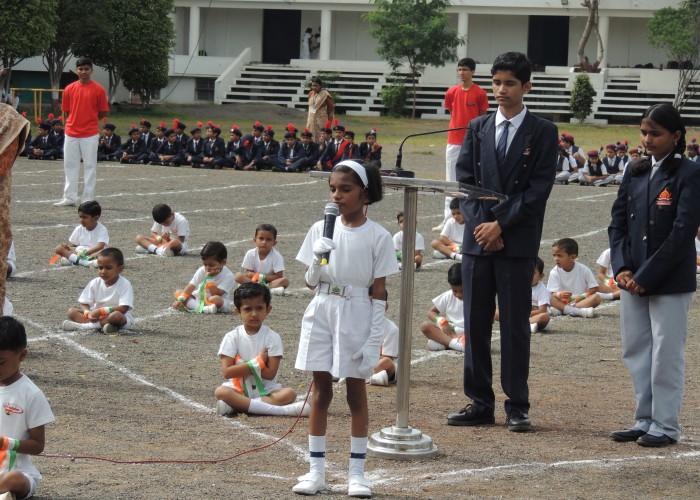 15 Aug Celebration At Maharashtra Public School 2018